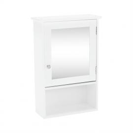 Závesná skrinka so zrkadlom, biela, ATENE TYP 2